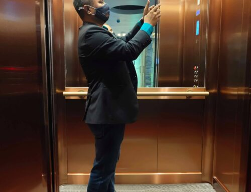Why do lifts have mirrors?